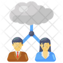 Cloud Users Cloud Team Cloud Persons Icon