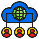 Cloud Users Network Icon