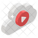 Online Video Cloud Video Cloud Streaming Icon
