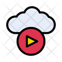 Video Cloud Storage Icon