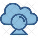 Cloud Video Cloud Computing Live Chat Icon