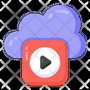 Cloud Video Cloud Media Cloud Multimedia Icon