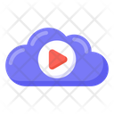 Cloud Media Cloud Video Cloud Movie Icon