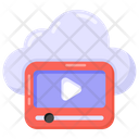 Cloud Media Cloud Video Video Streaming Icon