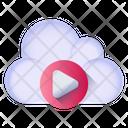 Cloud Media Cloud Movie Cloud Video Icon