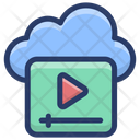 Cloud Video Streaming Icon