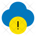 Warning Sign Cloud Icon