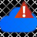 Cloud Warning Cloud Error Cloud Alert Icon