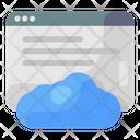 Cloud Website Cloud Site Cloud Web Page Icon