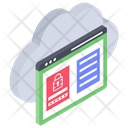 Cloud Website Security Icon