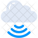 Cloud Signals Cloud Networking Cloud Connection Icon