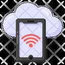 Cloud Phone Cloud Wifi Cloud Internet Icon