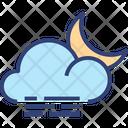 Cloud Wind Moon Icon