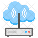 Cloud Wireless Router Icon