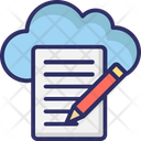 Cloud Writing Cloud Computing Cloud Article Icon