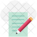 Cloud Writing Icon