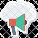 Cloudannouncement Cloudcomputing Cloudnotification Icon