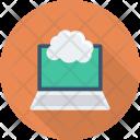 Cloudcomputing Cloudlaptop Cloudnetwork Icon