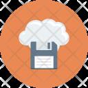 Cloudcomputing Cloudfloppy Datastorage Icon