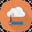 Cloudcomputing Internetdevice Wifimodem Icon