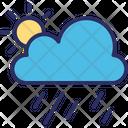 Clouds Raining Sun Icon