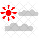 Nature Tourism Clouds Icon