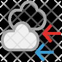 Clouds Back Arrows Icon