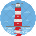 Clouds Light House Lighthouse Tower Icon