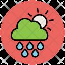 Clouds Sun Rain Icon