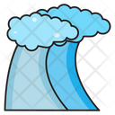 Clouds Mountains Nature Icon
