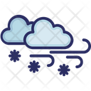 Clouds Wind Snow Icon