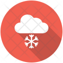 Clouds Snow Falling Icon