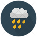 Clouds And Raindrops Icon