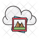 Pictures Clouds Database Icon