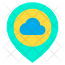 Cloud Location Cloud Placeholder Icon