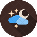 Cloudy Moon Weather Icon