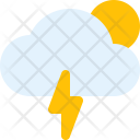 Cloudy Thunder Day Icon