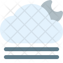 Cloudy Gust Night Icon
