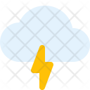 Cloudy Thunder Weather Icon