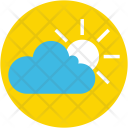 Cloudy Day Sunny Icon