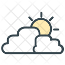 Cloudy Sun Clouds Icon