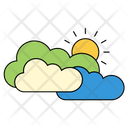 Cloudy Sun Weather Icon