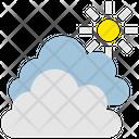 Summer Cloud Sun Icon