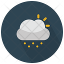 Sun Behind The Cloud With Drizzle Icon