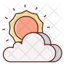 Cloudy Clouds Partly Cloudy Icon