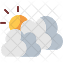 Cloudy Weather Sun Icon