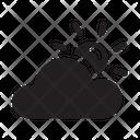 Cloudy Leaf Illustration Icon