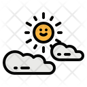 Cloudy Cloud Sun Icon