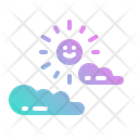 Cloudy Cloud Sun Icon