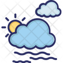 Weather Clouds Sun Icon